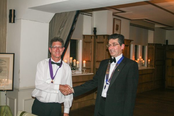 Our new President Lion Ian (right) and 1st Vice President Lion Mike (left)