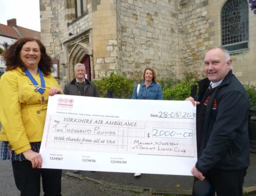 £2000 raised for Yorkshire Air Ambulance